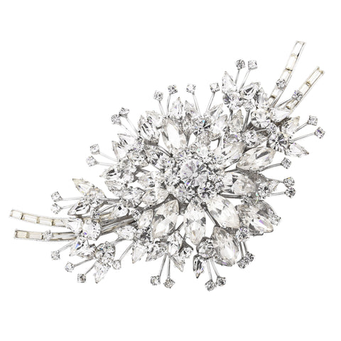Massively Gorgeous Rhinestone Brooch, Max Muller Front