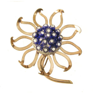 Nettie Rosenstein Sterling Vermeil Flower Fur/Pin Clip Front