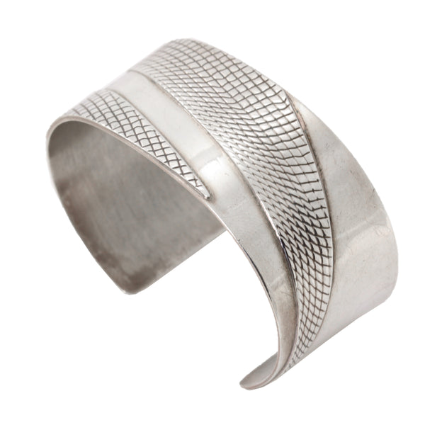 Sterling Silver Patterned Cuff Bracelet