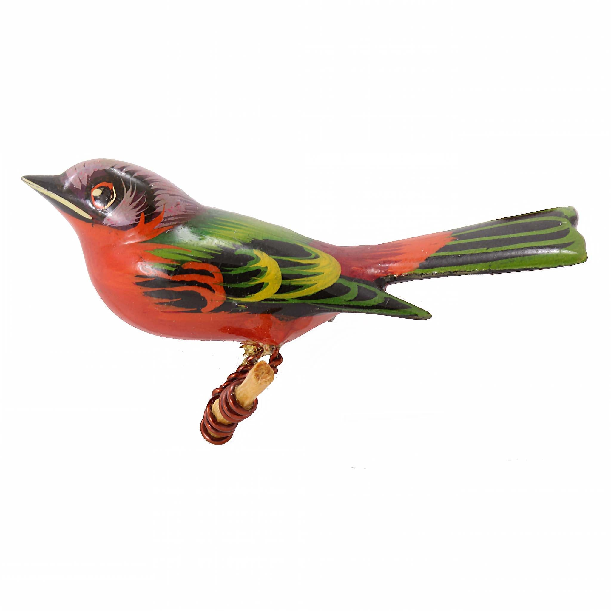 Takahashi Painted Bunting Bird Pin Front