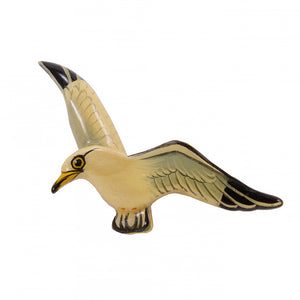 Takahashi Vintage Sea Gull Wood Bird Pin Front