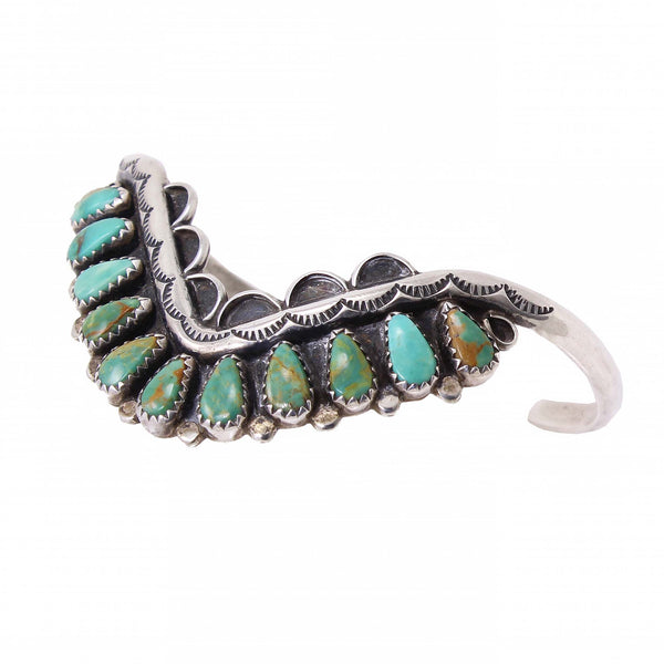 Zuni Turquoise Sterling Silver Bracelet Main