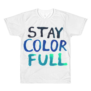 Stay Colorful - Blue - Loose Fit Tee