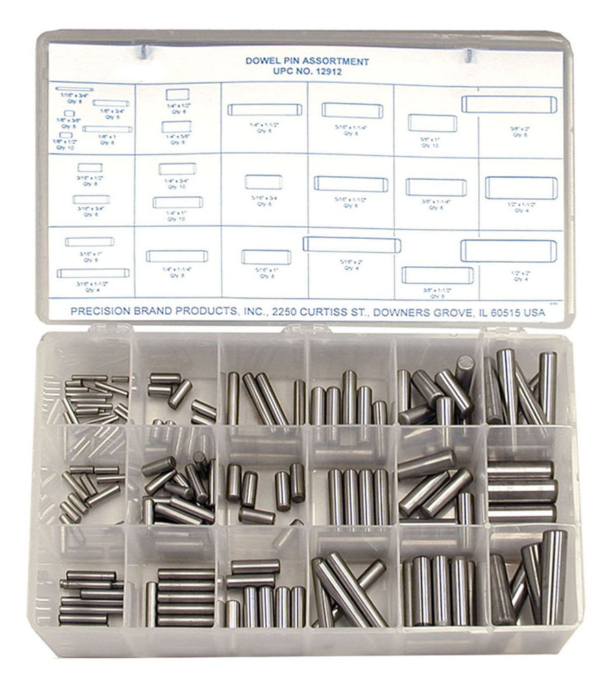 PIN DOWEL ASSORTMENT 176 PZ REF 12912 PRECISION BRAND