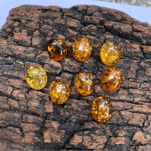 10X12 mm. Oval Shape Amber