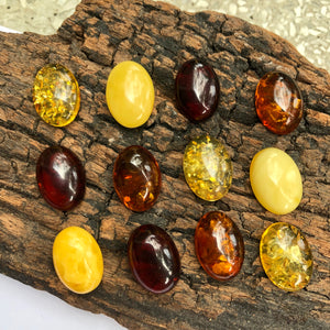 10X14 mm. Oval Natural Baltic Amber