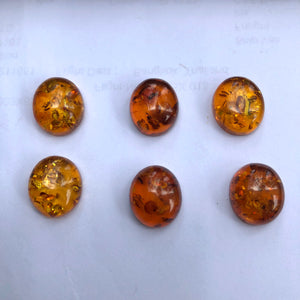 12X14 mm. Oval Amber
