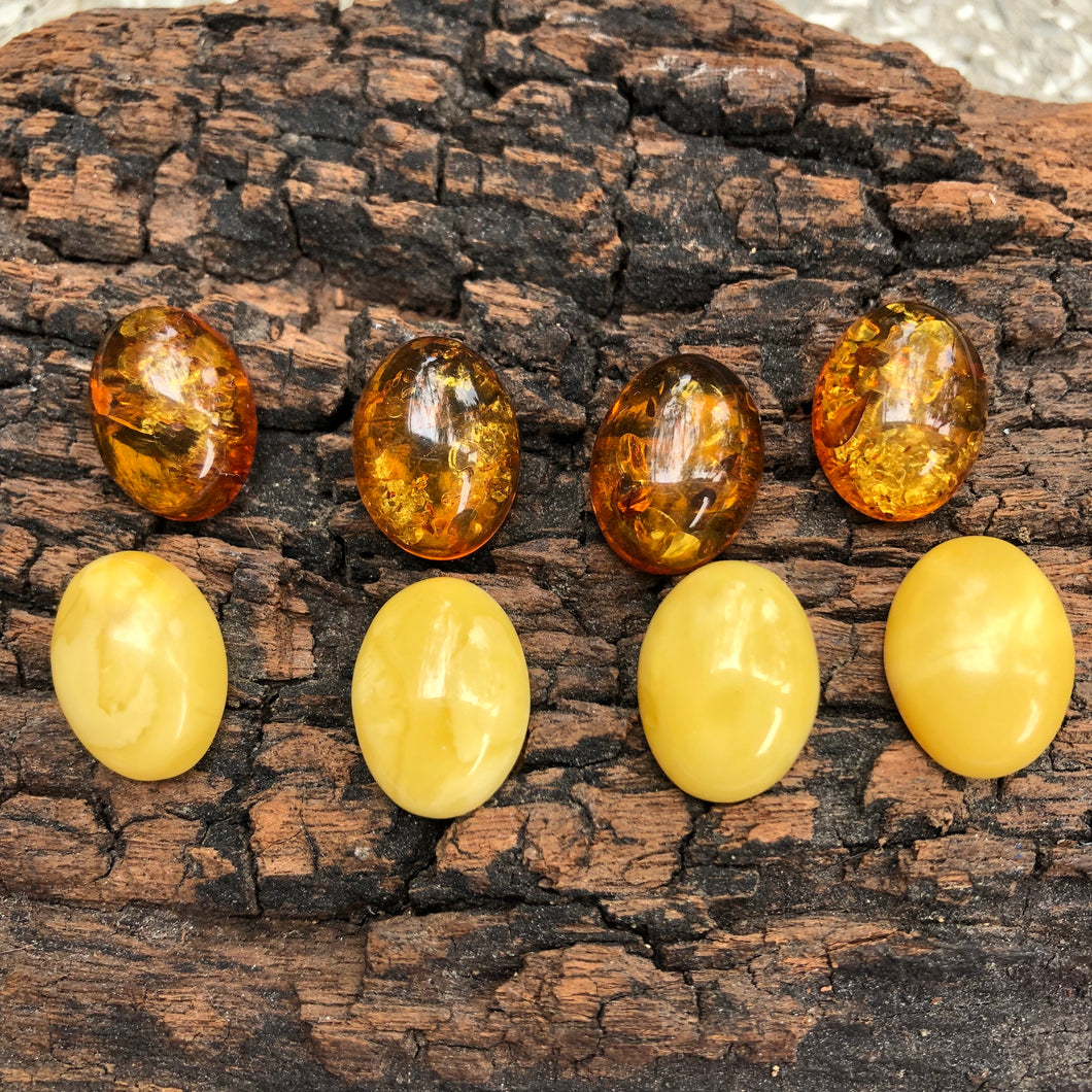 12X16 mm. Oval Shape Natural Amber