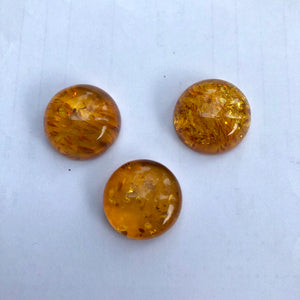 18 mm. Round Cab Natural Amber