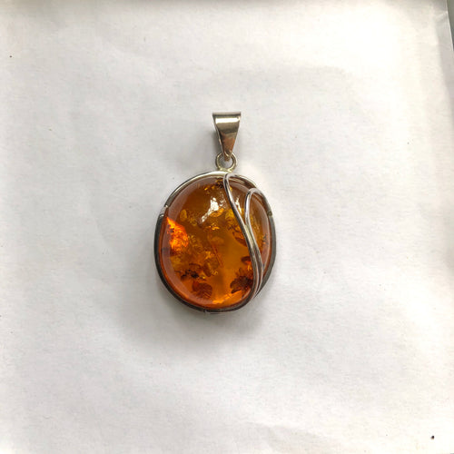 Handmade Pendant With Amber