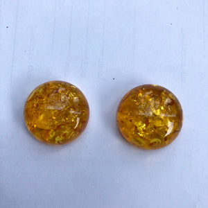 22 mm. Round Shape Natural Baltic Amber