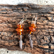 Silver Earring With Amber
