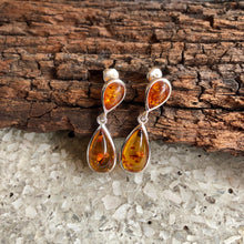 2 Drop Amber Earring