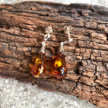 Round Drop Amber Earring