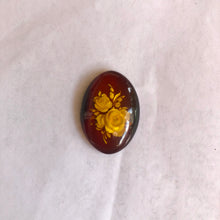 Flower Carved Amber Pendant