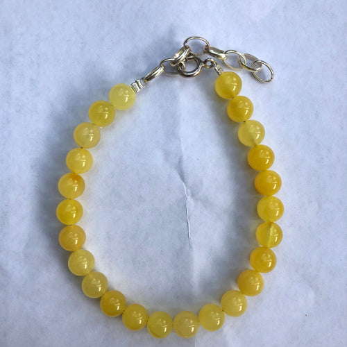 7 mm Natural Baltic Amber Beads Bracelet