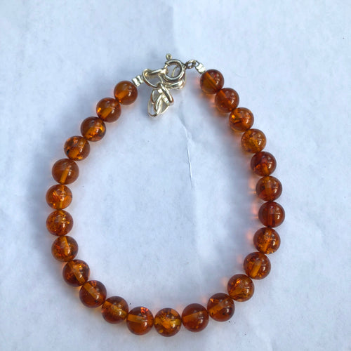 Natural Baltic Amber Beads Bracelet
