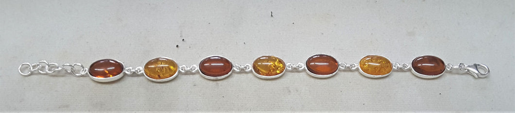 Baltic Amber Oval Shape Bracelet