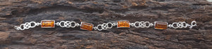 925 Silver Bracelet With Baltic Amber
