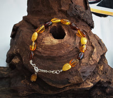 Amber Bracelet With Bean Shape Beads