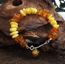 Bracelet With Milky And Cognac Baltic Amber