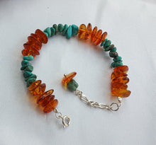 Bracelet With Turquoise And Amber