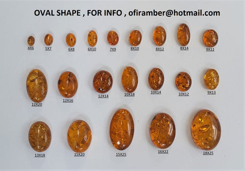 Oval Shape Amber Sample