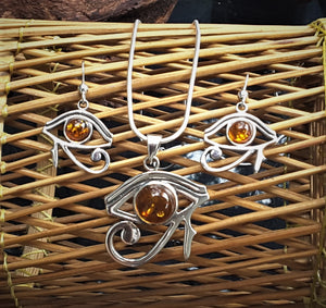 Egyptian Eye Silver Set