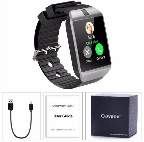 DZ09 Android Bluetooth Smartwatch 2G GSM SIM TF Card Camera for Samsung