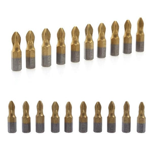 "(10-PACK) of 1/4"" Hex Shank Titanium Coated Anti-Slip Drill Bits"