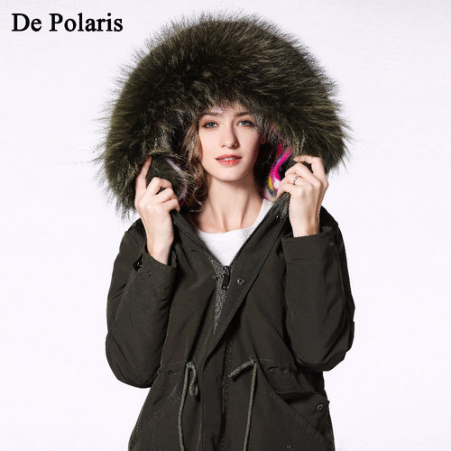parka woman 2018 New fur coat parkas 90CM winter coat women parka big real Mink fur collar natural fox fur liner long parka