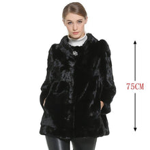 Load image into Gallery viewer, Mink Fur Coat Female Natural Fur Mink Coats Real long mink fur Genuine Real fur coats waistcoat Women  Coat fast Ship by DHL
