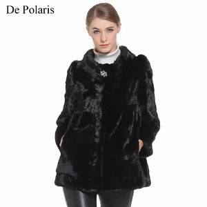 Mink Fur Coat Female Black Natural Fur Coats Women Honorable Waistcoat Hot Real Fur Coat Genuine Fur Coat For Women 2018 New