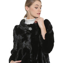 Load image into Gallery viewer, Mink Fur Coat Female Black Natural Fur Coats Women Honorable Waistcoat Hot Real Fur Coat Genuine Fur Coat For Women 2018 New