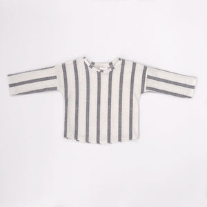 Basic Long Sleeve Tee | Grey Stripes