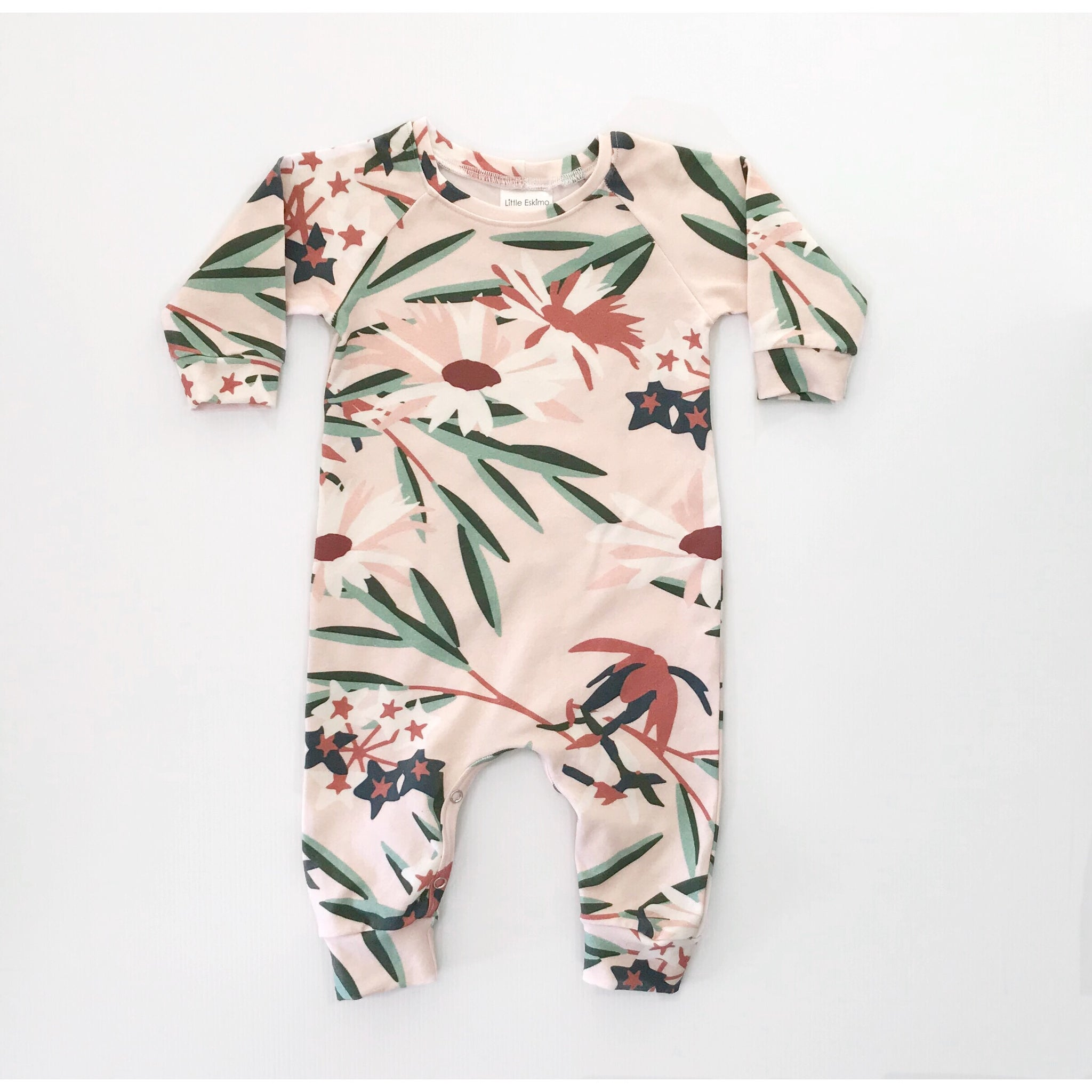 Long Sleeve Jumpsuit | Pink Florals