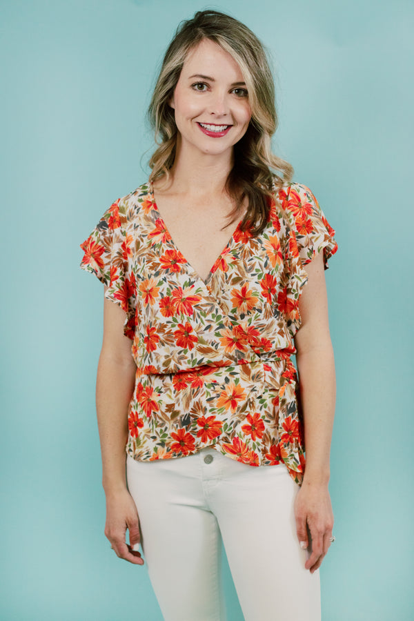 Happy Hibiscus Top