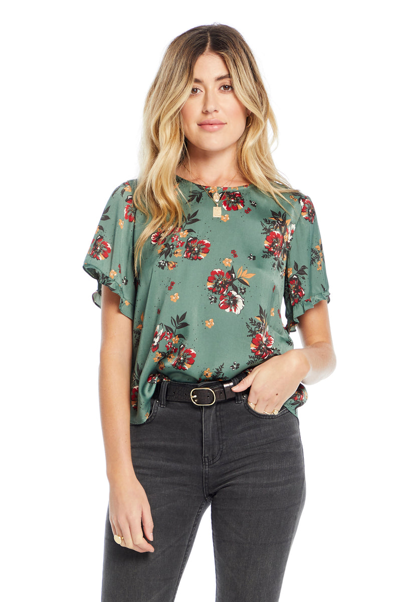 Emerald Bloom Blouse
