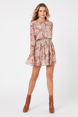 Woodstock Paisley Mini Dress