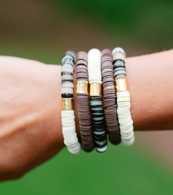 Mother of Pearl Bracelet Stack