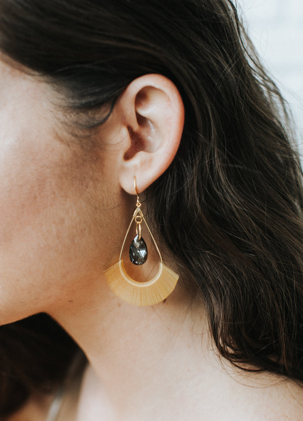 Vintage French Sequin Hoop Earrings