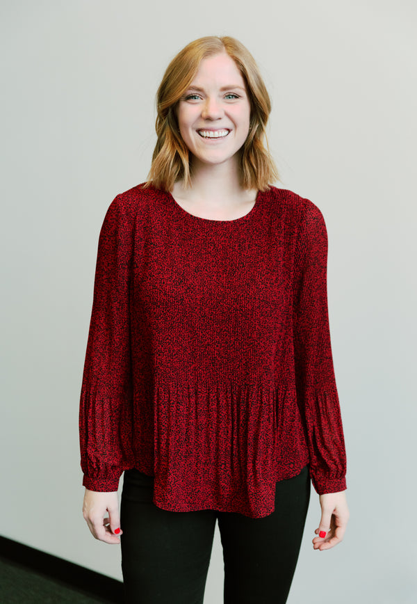 Crimson Storm Blouse