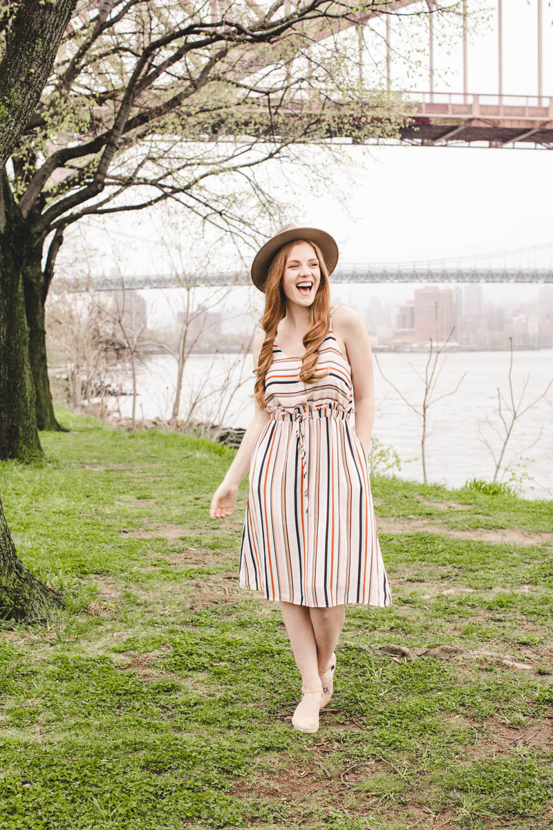 Sunset Stripes Dress