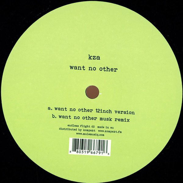 KZA - Want No Other