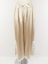 画像をギャラリービューアに読み込む, Satin lace wide pants (pink gold white lace) - Poupee Boutique