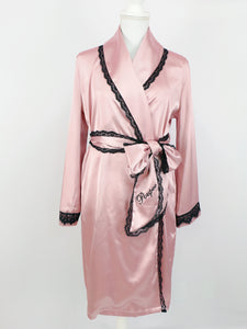 Satin lace gown (pink) - Poupee Boutique