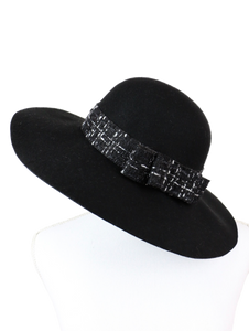 Camellia ribbon HATS (black) - Poupee Boutique