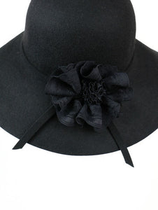Corsage ribbon HATS (black) - Poupee Boutique