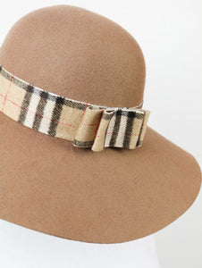 Plaid ribbon HATS (beige) - Poupee Boutique