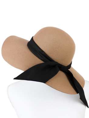 Plain ribbon HATS (beige) - Poupee Boutique
